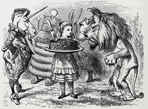The Sharing of the Cake Between the Lion and the Unicorn